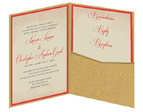 Kraut-Squier Wedding Invitation Stationery Suite
