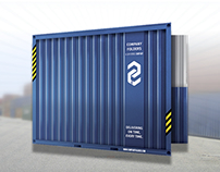 Shipping Container Presentation Folder Template