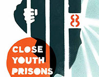 Close Youth Prisons poster