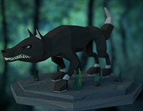 Wolf model (low poly version)