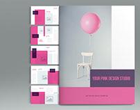 Pink Brochure Template