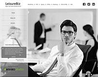LeisureBiz - Web UI for freelance, small Creative Firm
