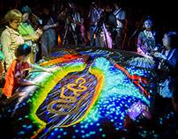 Projection at the Asuka Light Festival, Nara