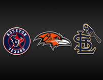 NFL X MLB Logo Mashup