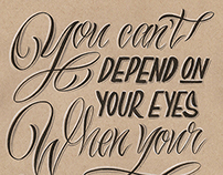 Mark Twain Quote Script Lettering