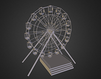 3D Giant Wheel Model using Autodesk Maya
