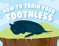 """How to train your toothless""   done by:Ai Cc"