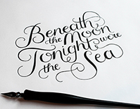 Beneath the moon, tonight, we're the sea