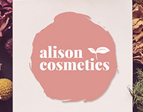 Alison Cosmetics Logo and Package Design