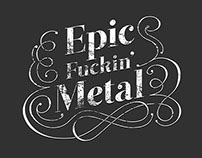 Epic Fuckin' Metal Poster Series