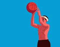 Basketball boy & girl