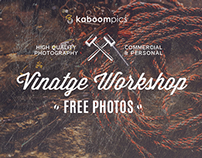 FREE PHOTO PACK - VINTAGE WORKSHOP