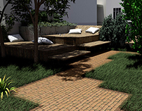 Atrium Garden - 3D Render