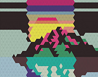 CD cover - Geometric illustration