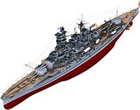 IJN Battleship Kongo 1944