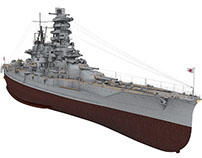 IJN Battleship Haruna 1944-45