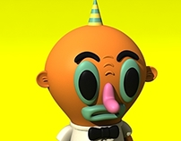 Horn Boy 3D Character