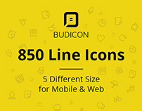 Budicon - 850 Scalable Vector Line Icons