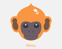 Mikey - The monkey cartoon face design
