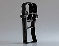 Handmade portraits 3D printed