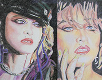 Madonna Ciccone Drawings by K. Fairbanks