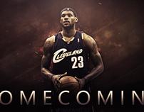 "LeBron James ""Home Coming"" wallpaper."