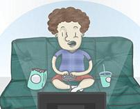 Ilustrações Sedentarismo infantil