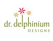 Dr. Delphinium Identity Concept