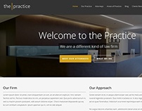 The Practice | Lawyer Website Template