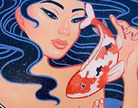 Koi Fish Girl