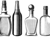 Alcohol drink bottle collection