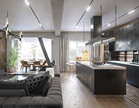 The new apartment in loft style