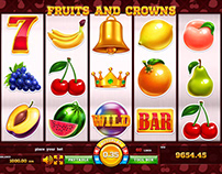 "Slot game - ""Fruits and Crowns"""
