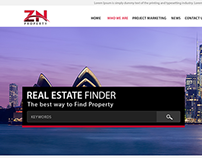 Real Estate Company Website (Zn Property template)
