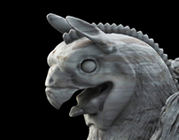 Great Griffin of Persia zbrush & Matte Paint