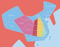 Map of China 量化的中国地图