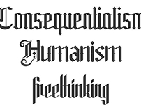 Secular Morality Typeface design
