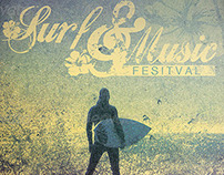Surf and Music Festival Flyer and Poster Template