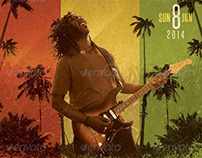 Reggae Rock Flyer Template