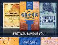Festival Flyer Templates Bundle Vol 1