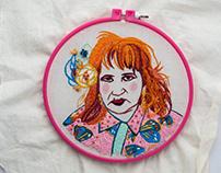 retratos bordados