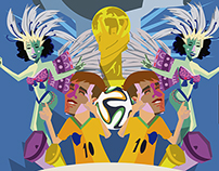 Brazil Worldcup Illustrations