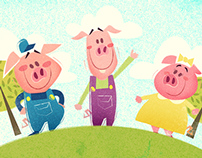 Three Little Pigs - Children's Illustrations