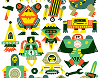 80 Tatoos Robots - Editions Deux coqs d'or