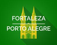 Brazil 2014 Host Cities - Fortaleza & Porto Alegre