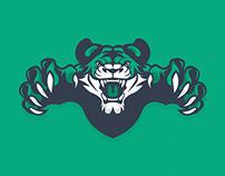 Mascot Logo - Green Tiger