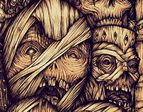 Ilustración de momias