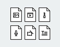 File Type Line Icons + FREE Download!