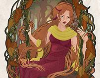 """Art Nouveau Series """"Autumn"""""""