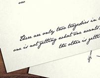 Oscar Wilde Inspired 4x5 Postcard Set of 5